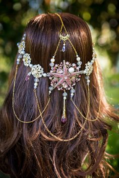Crystal Mermaid Crown handmade OOAK by BlingGoddessBoutique
