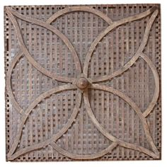 Large American Arts and Crafts decorative wall/ceiling panel Ceiling Panels, Ceiling Tiles, Flower Basket, Floral Motif, Architecture Details, New Trends, American Art, Craft Beer, Arts And Crafts
