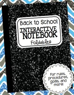 FREE Back to School Interactive Notebook Foldables - Templates for rules, procedures, goals, and other beginning of the year items for INBs. Great for first year teacher. Beginning Of The School Year, First Day Of School, Back To School, High School, Interactive Student Notebooks, Science Notebooks, Reading Notebooks, Rules And Procedures, Science Classroom