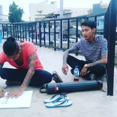 Me sketching jakarta