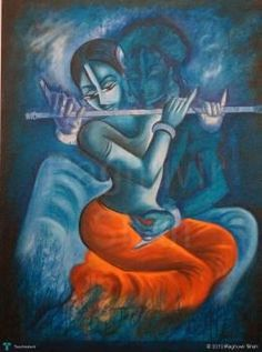 Touch of Krishna #Creative #Art #Painting @touchtalent.com.com