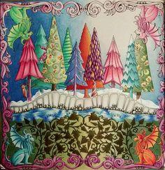 Johanna Basford | Anna Lee Sanders / Inspirational Coloring Pages  #inspiração #coloringbooks #livrosdecolorir #jardimsecreto #secretgarden #florestaencantada #enchantedforest #reinoanimal #animalkingdom #adultcoloring #johannabasford #milliemarotta #flowers #tropicalwonderland