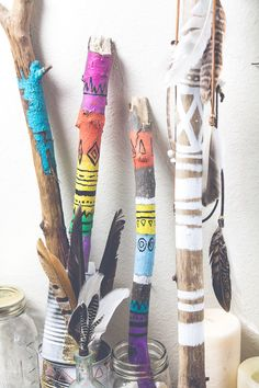 Painted Sticks DIY by SoulMakes