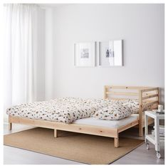 IKEA - TARVA Daybed with 2 mattresses pine, Husvika firm