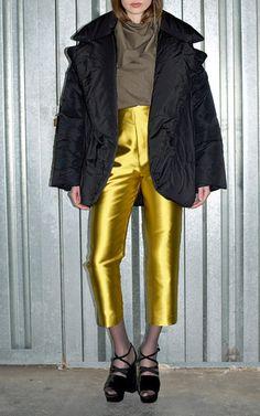 Technical Faille Medium Puffa Jacket by ISA ARFEN for Preorder on Moda Operandi