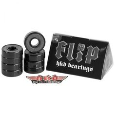 Flip HKD 7s Skateboard Bearings, color: Assorted, category/department: skate-bearings