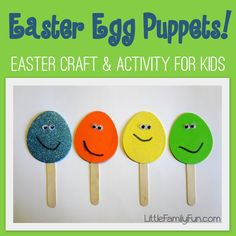 Little Family Fun: Easter Egg Puppets