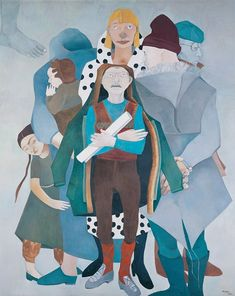 "Neş'e Erdok, ""Paper, Mister? Turkish Art, Famous Artists, Oil On Canvas, Contemporary Art, Street Art, Country, School, Illustration, Photos"