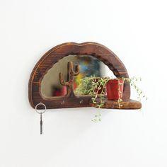 Vintage Wooden Cactu