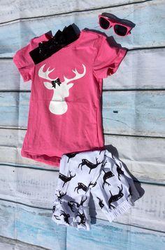 Girls Deer Antler Capri Set – Southern Mess Boutique