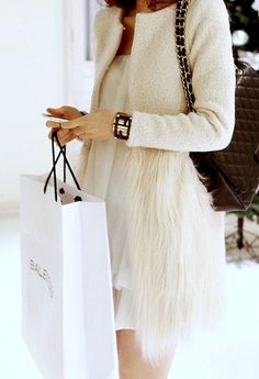 feather sweater.