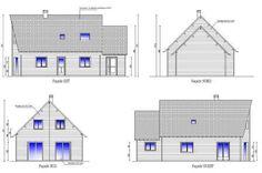 Plan du permis de constuire de la maison bois