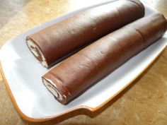 NapadyNavody.sk   Mini tvarohové roládky - FOTOPOSTUP Chocolate Roll Cake, Chocolate Brownies, Sausage, Rolls, Meat, Ethnic Recipes, Cooking Food, Austria, Food Cakes