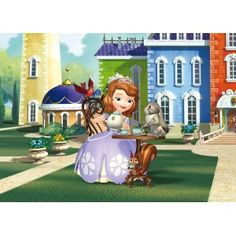 Sofia the First -Tea with Kalle, Kiki, Mia and Robin x Wallpaper Embossed Wallpaper, Wallpaper Roll, Wall Wallpaper, Poster Xxl, Crafts For 3 Year Olds, Buy Wallpaper Online, Paradise Garden, Sofia The First, Hazelwood Home