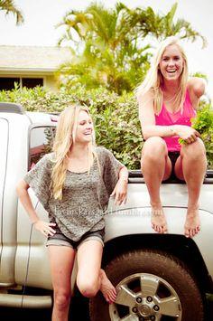 Alana Blanchard and Bethany Hamilton, Best friends.