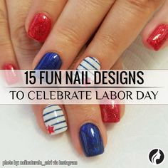 Mynailsandmydrink Super Quick And Simple Red White Blue Mani For