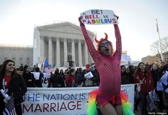 Funny signs from outside the Supreme Court today
