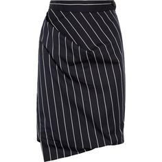Vivienne Westwood Anglomania New Accident striped cotton-blend skirt (3.259.950 IDR) ❤ liked on Polyvore featuring skirts, striped pleated skirt, navy blue pleated skirt, stripe skirts, pleated skirt and zip skirt