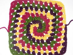 Ravelry: butterfly214's Barney Themed Squares - Comfortghan Donation