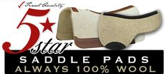 Contoured Wool Saddle Pads by 5 Star Saddle Pads - Best Quality!