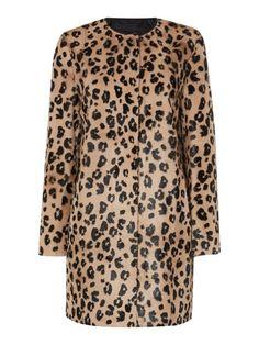 Max Mara Panama leopard goatskin coat