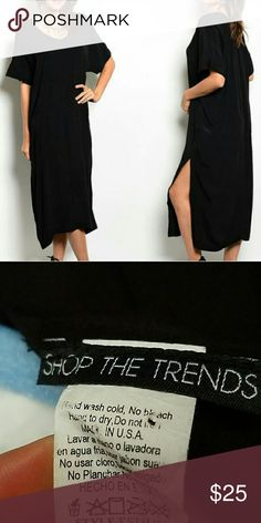 ●●●FINAL MARKDOWN ●●●THE TRENDS DRESS SHOP THE TRENDS BLACK MIDI DRESS  NWOT  SIZE MED  VERY COMFORTABLE  MADE IN USA Shop the trends Dresses Midi