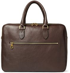 $1,375, Mulberry Heathcliffe Leather Briefcase. Sold by MR PORTER. Click for more info: https://lookastic.com/men/shop_items/6999/redirect