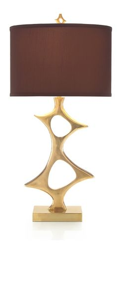 Table Lamps, Luxury Designer Gold Brass Abstract Art Metal Lamp, so beautiful, one of over 3,000 limited production interior design inspirations inc, furniture, lighting, mirrors, tabletop accents and gift ideas to   enjoy repin and share at InStyle Decor Beverly Hills Hollywood Luxury Home Decor enjoy  happy pinning