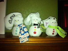 My little snowman family I made....Brandon Me and Brookie  http://www.darkroomanddearly.com/2011/12/10th-day-of-christmas-sock-snowmen.html?m=1
