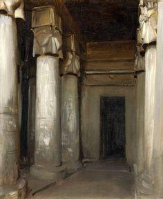 "shear-in-spuh-rey-shuhn: "" JOHN SINGER SARGENT The Temple of Denderah Oil on…"