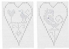 Cross Stitch Heart, Cross Stitch Flowers, Cross Stitch Patterns, Crochet Curtains, Crochet Doilies, Filet Crochet Charts, Crochet Doll Dress, Crochet Home Decor, Easter Crochet