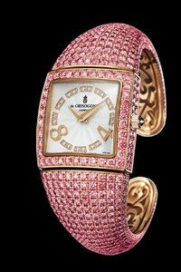 De Grisogono Piccolina Watch with pink gold, sapphires and diamonds