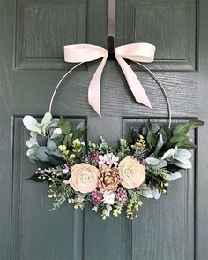 Wreath Crafts, Diy Wreath, Tulle Wreath, Wreath Hanger, Deco Table Champetre, Deco Floral, Front Door Decor, Summer Wreath, Spring Wreaths For Front Door Diy