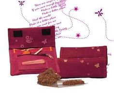 Tobacco Pouch - tobacco case - rolling cigarettes - butterfly