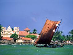Fishing boat off the coast of Galle, Sri Lanka