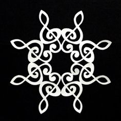 Treble Clef Snowflake Papercuts by Quilt Rat