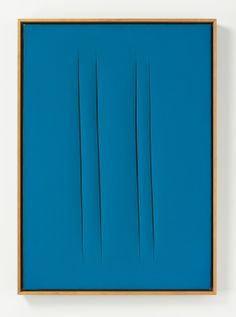 Lucio Fontana, Concetto spaziale, Attese, 1967. Waterpaint on canvas, 36 x 25,5 inches.