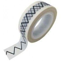 Studio Stationery masking tape zwart wit zigzag