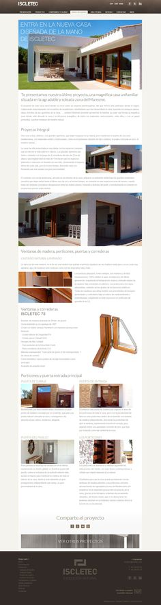Iscletec wooden windows webdesign