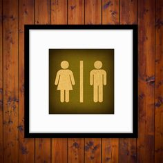 Male and Female Restroom Symbol Print by SparrowHousePrints