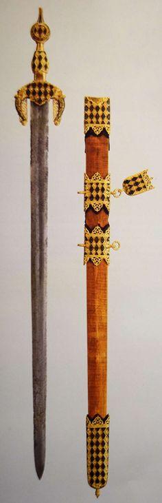 Al-Andalus ( الأندلس ) Nasrid sword, century, Military Knives, Military Art, Granada, Arming Sword, Armadura Medieval, Swords And Daggers, Arm Armor, Fantasy Weapons, Moorish