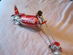 aluminum can Coca Cola can chopper motorcycle folk art can crafts,recycle in Collectibles, Breweriana, Beer, Bottles: Aluminum Aluminum Can Crafts, Aluminum Cans, Metal Crafts, Tin Can Art, Soda Can Art, Bottle Cap Art, Bottle Cap Crafts, Beer Cap Art, Soda Can Crafts