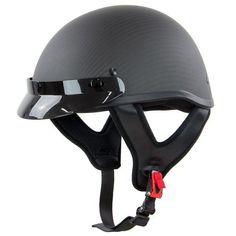 Outlaw Flat Black Carbon-Fiber Ultra-Light Motorcycle Helmet - X-Large Carbon Fiber Motorcycle Helmet, Motorcycle Helmets For Sale, Buy Motorcycle, Bicycle Helmet, Half Helmets, Full Face Helmets, Tactical Helmet, Biker Gear, Carbon Black