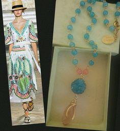 #necklace  #collar #corto #druzzy #jade #hechoamano #artesanal #cristal #diseño #azul #rosa joyería jewelry collar aqua #mk