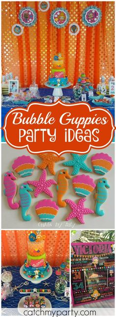 You have to see this fantastic Bubble Guppies birthday party! See more party ideas at Catchmyparty.com!