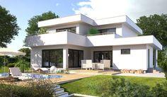 Moderne Hausentwürfe die Lust auf mehr machen. Zahlreiche Bauhaus Wohnideen modern inszeniert. Die komplette Bildergalerie gibt es unter http://www.hanlo.de