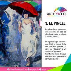 Primer tip para mejorar tu forma de pintar lluvia. #ArteYa Obra: Sombrillas Grises Autor: Hernández Medidas 130 cm x 70 cm