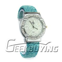 This one is a unique Bracelet Stone Watch for all you pretty ladies who love to keep it stylish. http://www.geekbuying.com/item/Stylish-Lady-Bracelet-Stone-Watch-Normal-Size-Blue-305708.html  $5.13