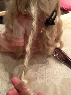How to tame or fix messy American Girl Dolls curlyhair