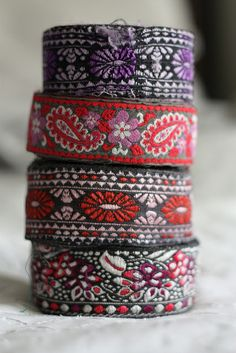 Ribbons from India by lavenderandlime, via Flickr